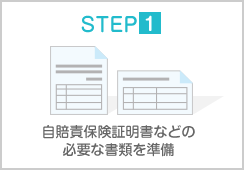 STEP1 自賠責保険証明書などの必用な書類を準備